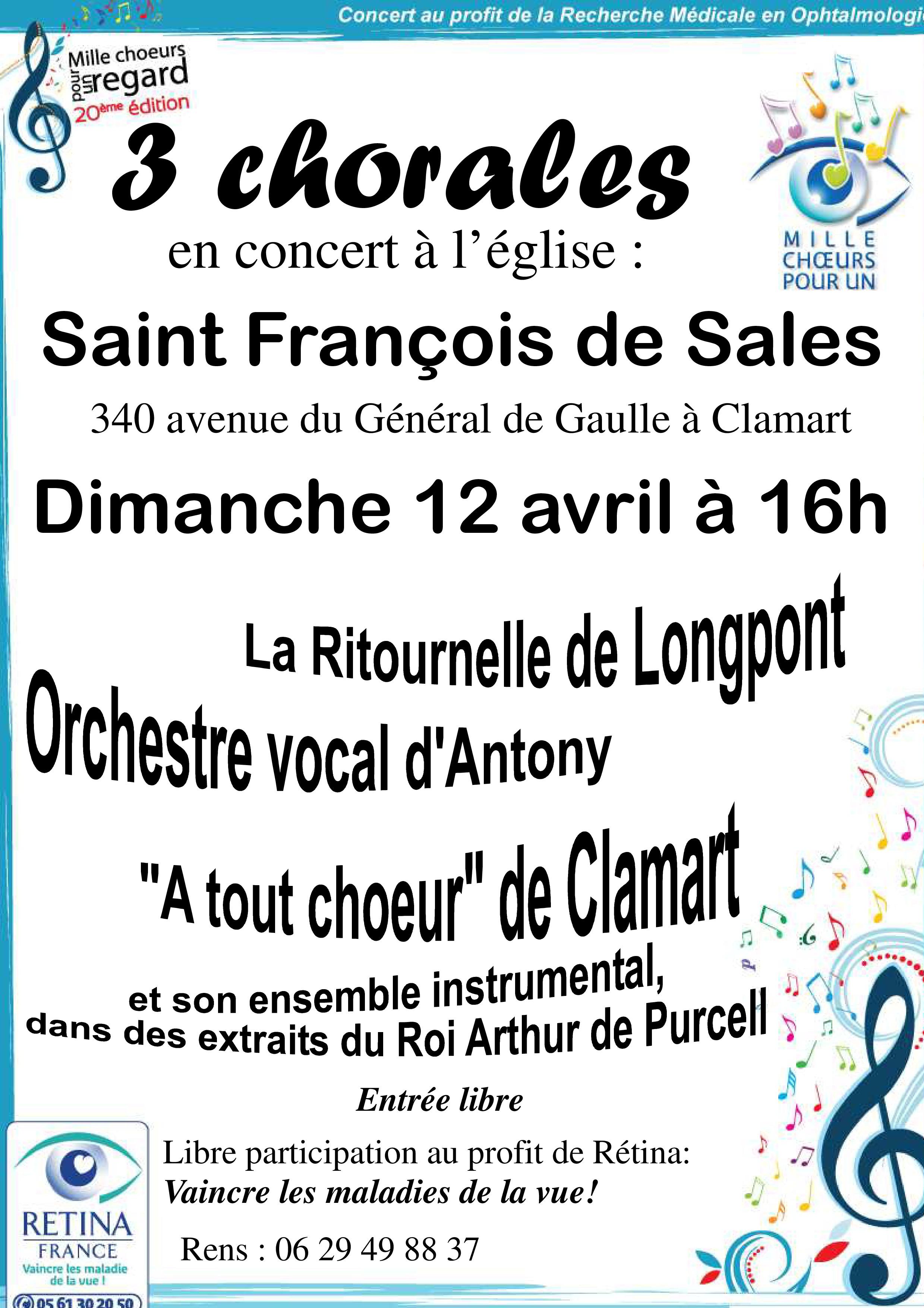 Concert Mille Choeurs pour un regard
